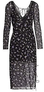 Altuzarra Women's Silk Floral Print Lace Dress
