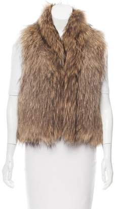 Yves Salomon Fur Shawl Collar Vest