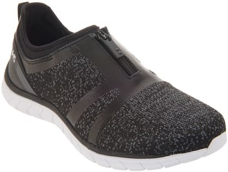 Ryka Knit Zip-Front Sneakers - Primo Knit