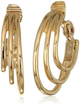 Anne Klein Women's Multi Ring EZ Comfort Clip Hoop Earrings