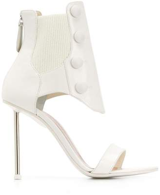 Alexander McQueen ribbed ankle sandals