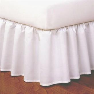 Levinsohn Magic Skirt FRE34414WHIT01 14 in. Ruffled Magicskirt, White - Twin