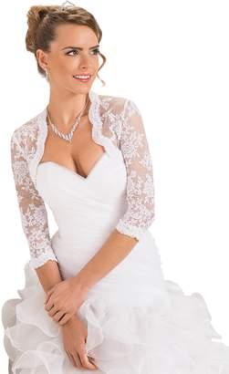 OssaFashion- BridalWear New Ladies Fashion Wedding Top Lace Bridal Bolero Shrug Jacket