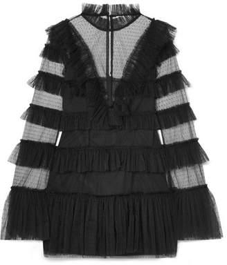 Alice McCall The Zen Tiered Swiss-dot Tulle Mini Dress