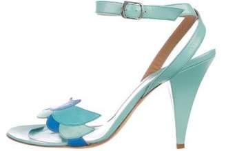 Emilio Pucci Leather Ankle Strap Sandals