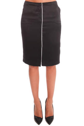 Warehouse ATM Self Piping Silk Pencil Skirt