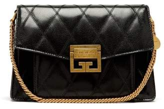 Givenchy Gv3 Small Quilted Leather Cross Body Bag - Womens - Black