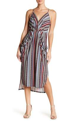 BCBGeneration Printed Faux Wrap Dress