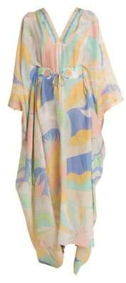 Emilio Pucci Belted Cotton Silk Caftan