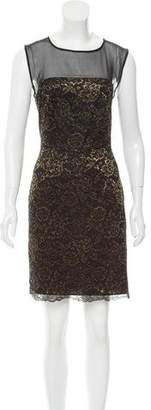 Diane von Furstenberg Nisha Metallic Lace Dress