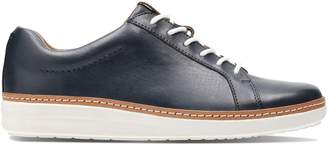 8f5f3deb5de at La Redoute · Clarks AMBERLEE ROSE Leather Trainers