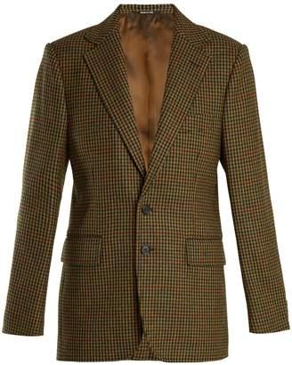 Maison Margiela Single-breasted hound's-tooth wool jacket