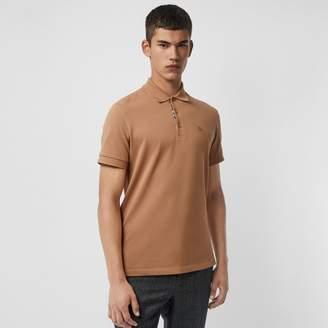 Burberry Check Placket Cotton Polo Shirt