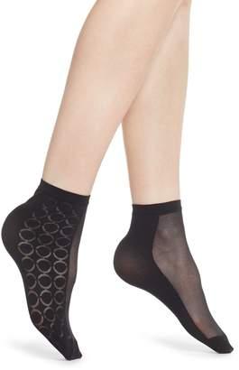 Oroblu Sheer Logo Ankle Socks