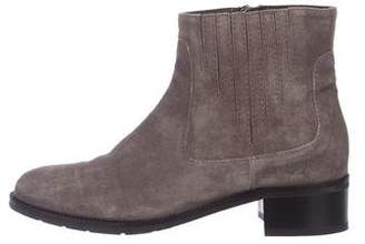 Aquatalia Suede Pointed-Toe Ankle Boots