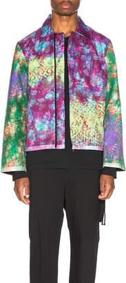 Craig Green Vibrating Floral Line Stitch Worker Jacket in Purple | FWRD
