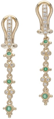 Judith Ripka 14K Gold Gemstone & Diamond DangleEarring