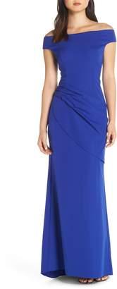 Eliza J Draped Off the Shoulder Gown