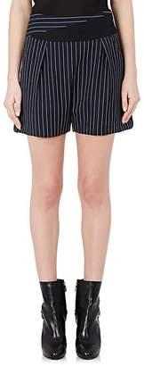 Lanvin Women's Pinstriped Wool Shorts