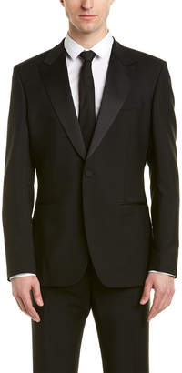 Reiss Mayfair Modern Fit Wool & Mohair-Blend Suit With Flat Front Pant