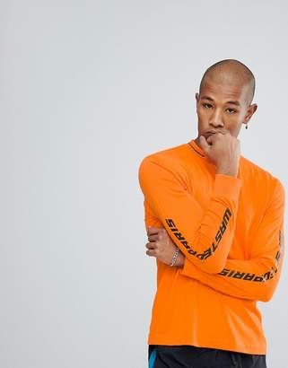 Wasted Paris Squadra Long Sleeve T-Shirt In Orange