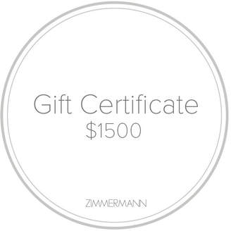 Zimmermann Gift Certificate $1500
