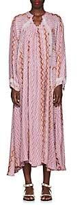 Natalie Martin Women's Fiore Zigzag-Print Silk Maxi Dress - Ltpnk, Orng