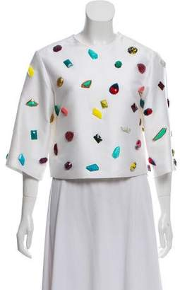 Stella McCartney Jewel Embellished Crop Top