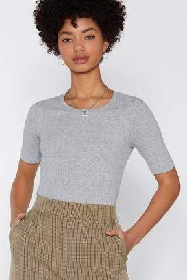 Nasty Gal What's the Tee Ribbed Tee