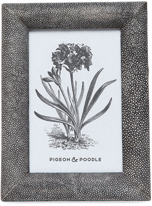 """Pigeon And Poodle Oxford Faux-Shagreen Picture Frame, 4"""" x 6"""""""