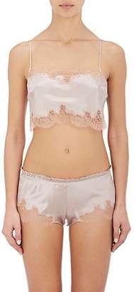 Carine Gilson Women's Lace-Trimmed Silk Crop Camisole
