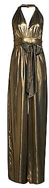 Rachel Zoe Women's Renee Metallic Halter Jumpsuit