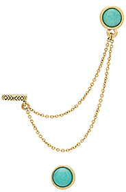 House of Harlow 1960 Nuri Dangle Earring Set in Metallic Gold. $58 thestylecure.com
