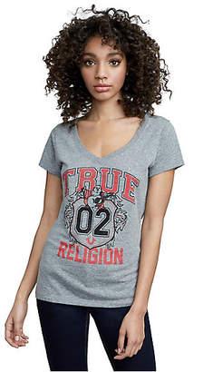 True Religion True Crest Round V Neck Tee