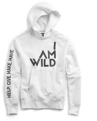 Todd Snyder IAMWILD® Popover Hoodie In White