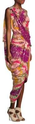 Etro Sari Faux Wrap Dress