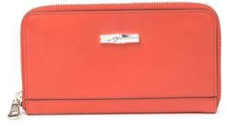 Longchamp Roseau Heritage 3\u002F4 Zip Around Leather Wallet