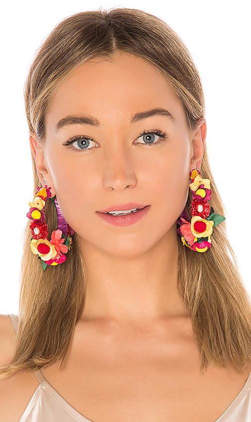 Floral Hoop Earring