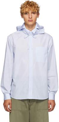 Craig Green Blue Pinstripe Shirt Jacket