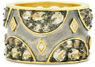 Freida Rothman Rose d'Or Pavé Band Ring