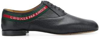 Gucci L'Aveugle Par Amour laced-up shoes