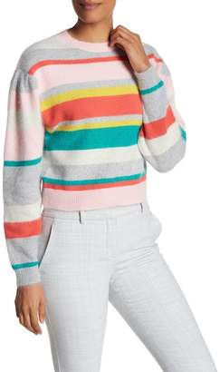 Rebecca Taylor Long Sleeve Striped Pullover