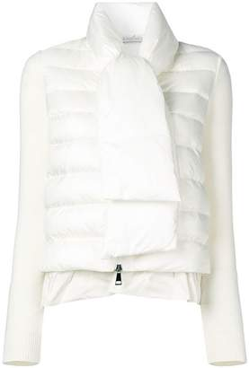 Moncler padded front knitted jacket
