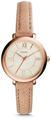 Fossil Jacqueline Mini Sand Leather Watch