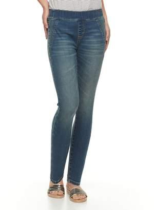 Apt. 9 Petite Pull-On Skinny Ankle Jeans