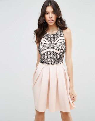 ASOS Scuba Skater With Embellished Bodice Dress $94 thestylecure.com