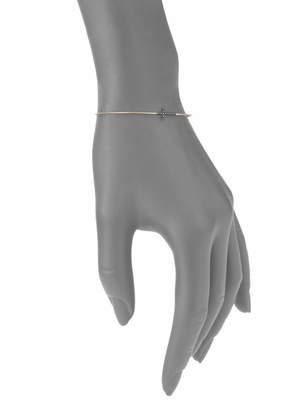 Suzanne Kalan Black Diamond and 14K Yellow Gold Cross Cuff Bracelet