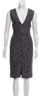 Alice + Olivia Patterned Midi Dress Patterned Midi Dress