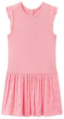 Petit Bateau Pink Eyelet Dress