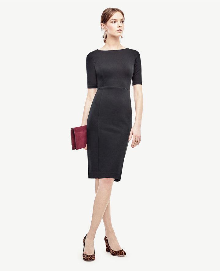 Ann TaylorPetite Ponte V-Back Sheath Dress